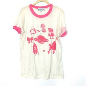 Wildfox Ringer Tee Short Sleeve Graphic Top